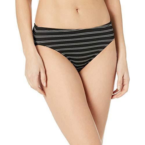 Chaps Women's Hipster Bikini Swimsuit Bottom, Multi//Pique Textured Stripe, 8