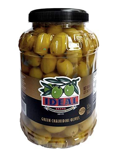 Ideal Brand entkernte grüne Halkidiki Oliven aus Griechenland (Netz 1500 g, entwässert 740 g)
