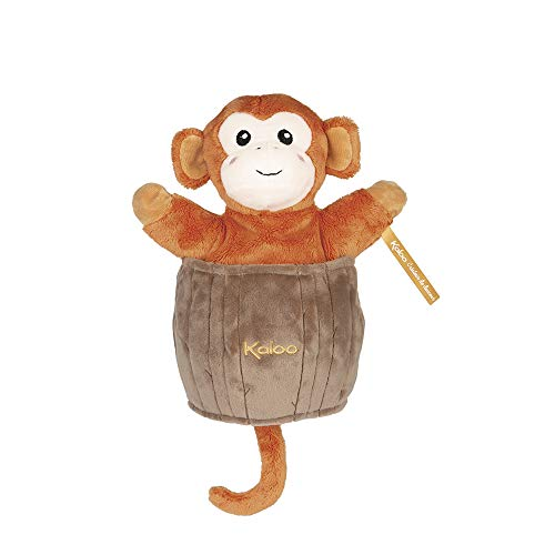 Kaloo - Colección Kachoo - Marioneta de Peluche Sorpresa para Bebé 25 cm, El Mono Jack (K963654)