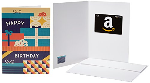 Amazon.com $25 Gift Card in a Greeting Card (Birthday Packages Design)