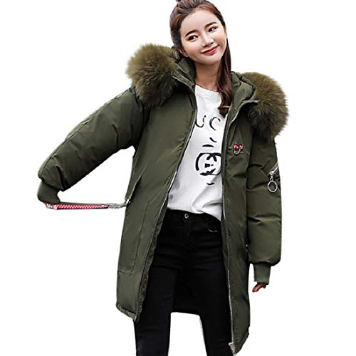 Purchase Women's Coat,GONKOMA Womens Solid Thicker Winter Coat Long Down Jacket Overcoat Army Green