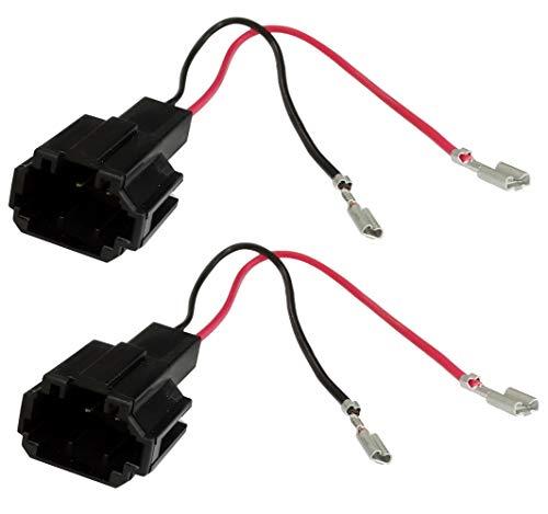 Ercetix: 2 x adapterkabel aansluitingen luidsprekerkabelaansluitingen C43526