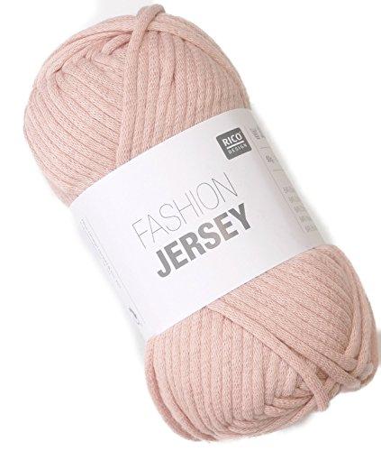 Rico Fashion Jersey Fb. 012 - Pale Rose, Jersey Bändchengarn, Sommerwolle, Schlauchgarn zum Stricken & Häkeln