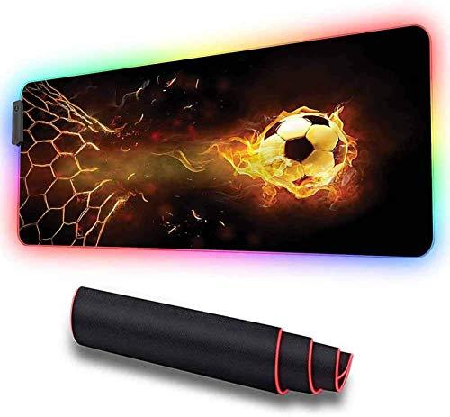 Alfombrilla de ratón RGB grande para juegos, deportes, red de portería de...