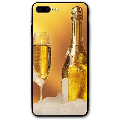 Inner-shop Compatible con Vino con Dos Copas de champán Funda iPhone 7 Plus / 8 Plus Funda iPhone 7/8 Plus a Prueba de Golpes