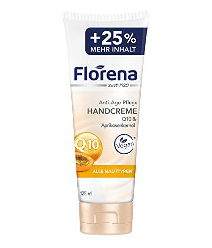 Florena Handcreme Q10 and Aprikosenkernöl, Anti-Age Pflege, 6er Pack (6 x 125 ml)