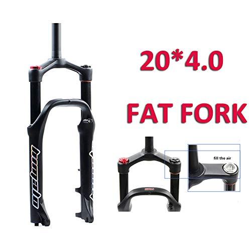 MIYUEZ 20 Zoll Fahrradgabel Schneemobil ATV Federgabel Federung Luftdruck Vorderradgabel Stoßdämpfer Breitreifen 4.0