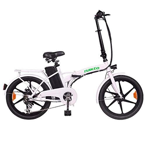 Art Jian 20 Pulgadas de aleación de Aluminio Plegable Bicicleta eléctrica, Variables...