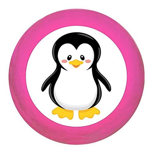 """Schrankgriff""""Pinguin"""" pink Holz Buche Kinder Kinderzimmer 1 Stück wilde Tiere Zootiere Dschungeltiere Traum Kind"""