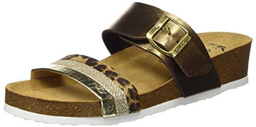 ara Damen BALI Pantoletten, Gelb (Gold-Leo, Bronce 06), 41 EU