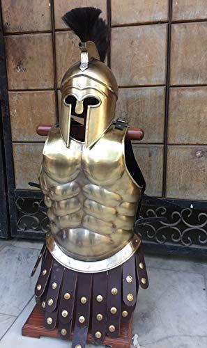 Nautical-Mart Greek Hoplite Helmet with Muscle Armor Cuirass Complete Armor Halloween Costume
