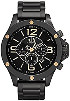Armani Exchange Chronograph Black Dial Ion-plated Men's Watch