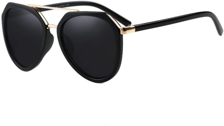 Fuqiuwei Sonnenbrillen Simple And Versatile Personality Big Frame Retro Sunglasses Female Big Face Was Thin