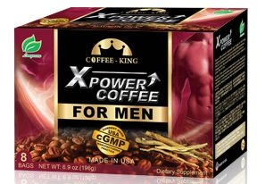 XPower Instant Coffee for Men Tongkat Ali Ginseng Coffee All Natural Male Enhancement Energy Boosting 6.9oz Bag (Pack of 8)