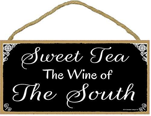 prz0vprz0v Zuidelijke Zoete Thee De Wijn van De Zuid Zwart & Wit Teken Plaque 5X10