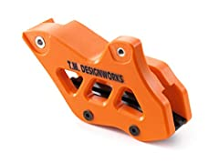T.M. Designworks Chain Guide CNC-machined from Teflon with replaceable chain running surface, hence extremely durable Specially designed for the challenges of offroad use. 7810497000004