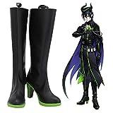 Twisted Wonderland Silver Malleus Lilia Cosplay zapatos botas Halloween carnaval Cosplay accesorio de disfraz 38 tamaño masculino