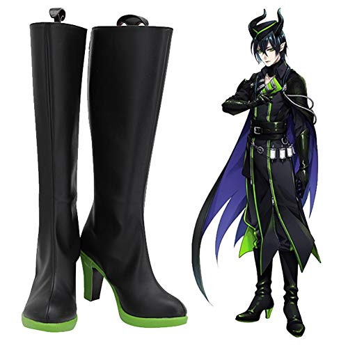 Twisted Wonderland Silver Malleus Lilia Cosplay Shoes Boots Halloween Carnival Cosplay Costume Prop Accessory 40 Female Size