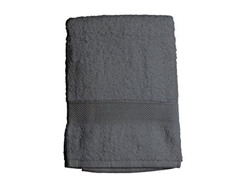 Soleil d'ocre 441102 Douceur Drap de Bain Coton Gris 70 x 130 cm
