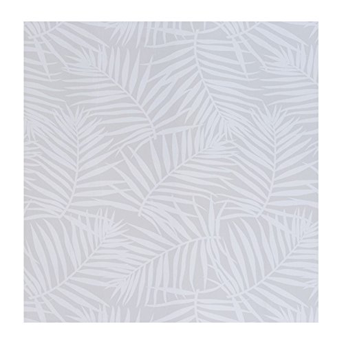 Kenay Home Wallpaper Papel Pintado Palms, Madera, Beige y Blanco, 0,50x10m(AnchoxLargo)