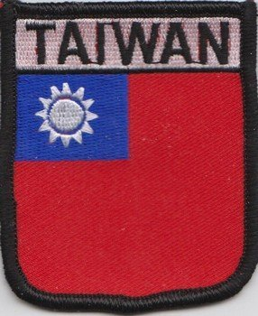1000 Flags Aufnäher mit Taiwan-Flagge, bestickt