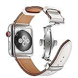 Correa de hebilla de mariposa única para Apple Watch, correa de...