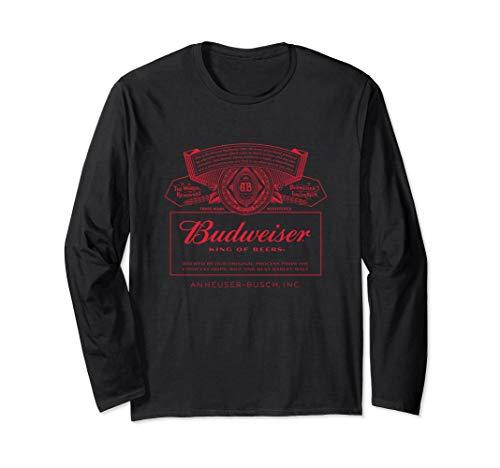 Budweiser Can Label Long Sleeve Shirt