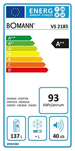 Bomann VS 2185 Tischkühlschrank Vollraum A++ Edelstahloptik 4