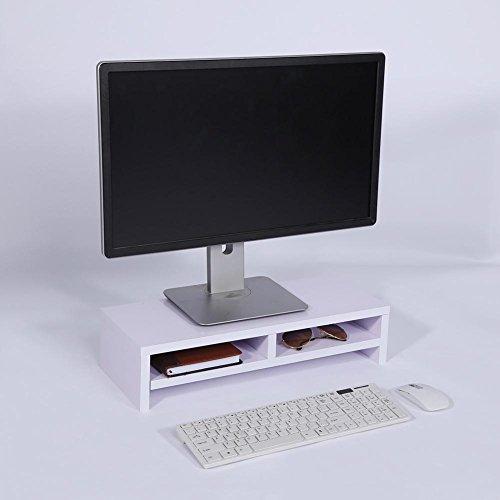 Estante para computadora Soporte para monitor de escritorio LCD TV Rack para computadora portátil Pantalla de computadora Estante vertical Escritorio de oficina Purpurino