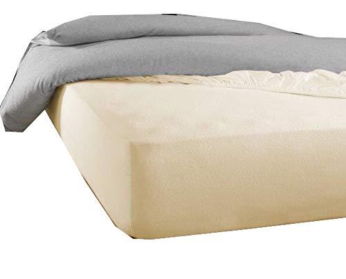 De Witte Lietaer Protector de colchón Skin160 x 200/210 cm h40 Tencel PU color blanco marfil