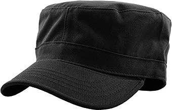 KBK-1464 BLK L Cadet Army Cap Basic Everyday Military Style Hat