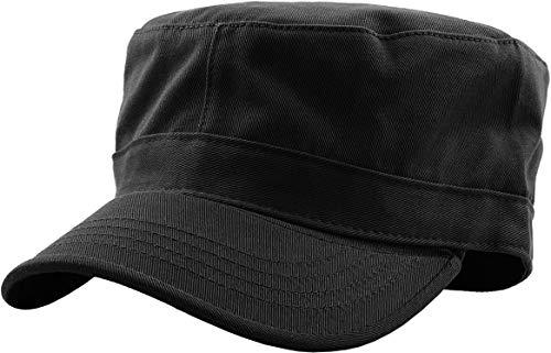 KBK-1464 BLK M Cadet Army Cap Basic Everyday Military Style Hat