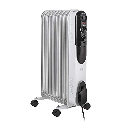 Mediawave Store - Radiatore MASTER ad olio Calorifero Elettrico con elementi, Riscaldatore Stufa Elettrica 522045 (7 elementi)