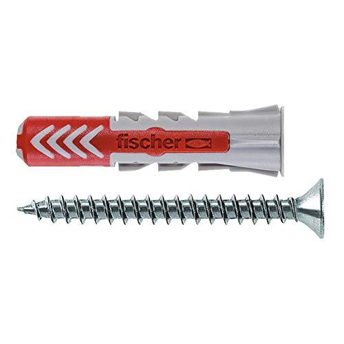 fischer 536389 DuoPower Dübel 5x25 mit Schrauben, Wanddübel Universaldübel für Beton, 35 Stück