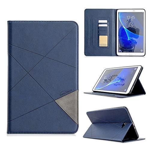 KM-WEN - Funda de piel sintética con tapa para iPad Mini 4/5 2019 (7,9 pulgadas) azul Samsung Galaxy Tab A SM-T580