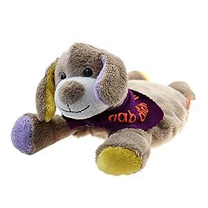 Wärmekissen Wärmetier Hund Vers. 1 mit Halstuch und Namen oder Spruch – Personalisiertes Baby Körnerkissen Rapskissen…