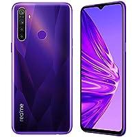 "realme 5 Smartphone Móvil, 4 GB RAM 128 GB ROM 6.5"" Snapdragon 665 AIE 12MP AI Quad Camera, European Version (Púrpura)"