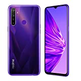 realme 5 Smartphone Cellulari, 4 GB RAM 128 GB ROM 6,5' Snapdragon 665 AIE 12MP AI Quad Camera, Versione Europea (Porpora)