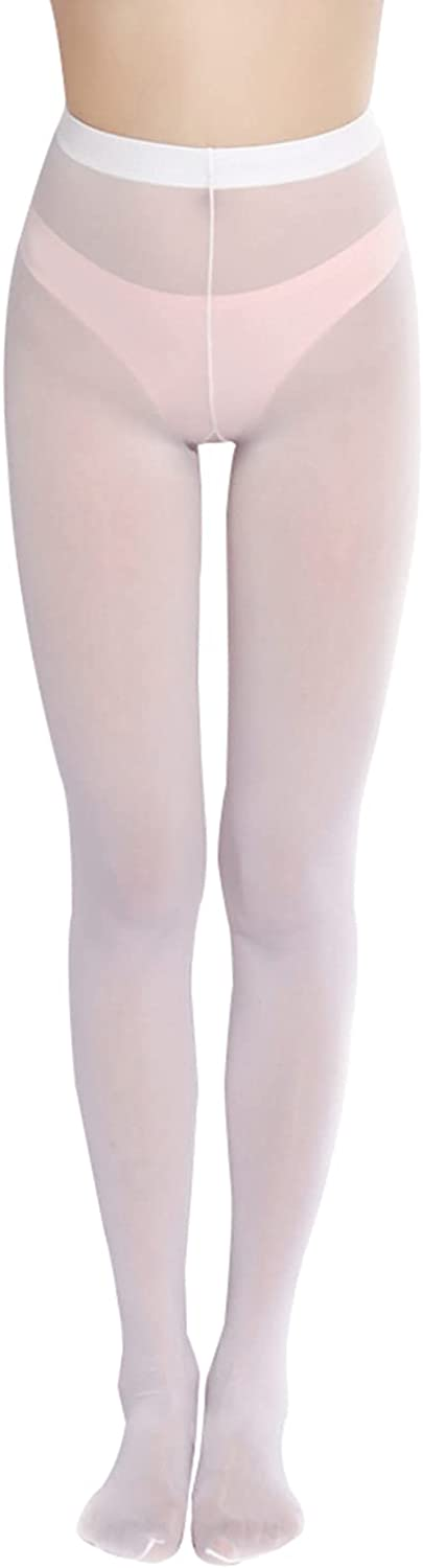 FEESHOW Women's Semi Opaque Tights Sheer Footed Pantyhose Seamless Leggings Tights Body Stocking