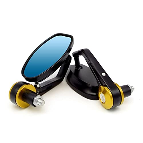 Espejo de la Motocicleta para Honda CRF 250 Varadero 125 X4 CB600 Hornet CBF 600 CBR 600F VFR 750 NSR Espejos Retrovisores De Manillar De Extremo De Barra De Espejo De Motocicleta (Color : Oro)