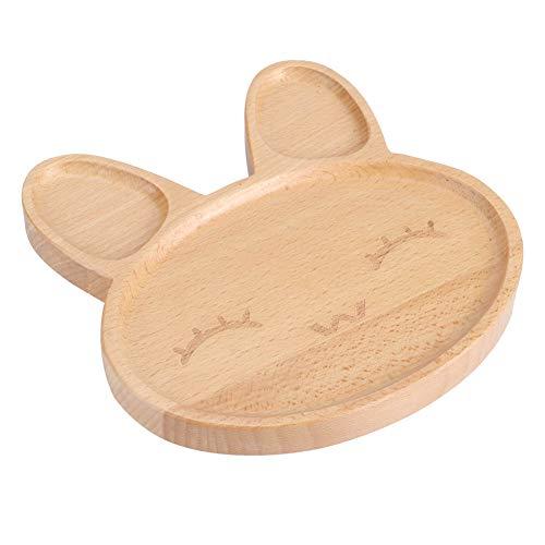 Bandeja para servir bocadillos Plato de madera de diseño dividido Plato para niños Plato para bebés destetados