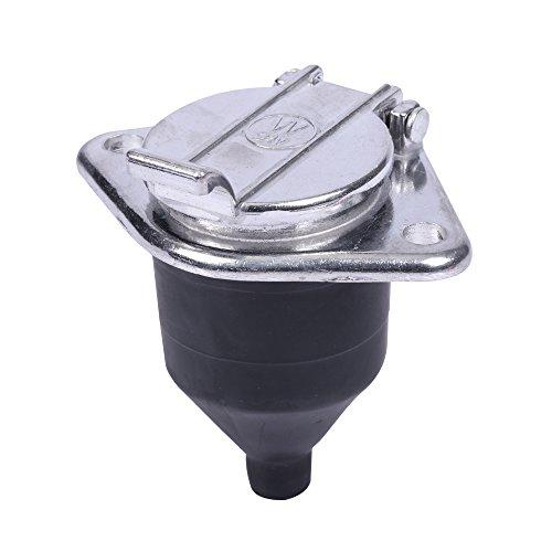 7-polig N Typ Aluminium Material Verkabelung Socket 24V Anhängerkupplung Abschleppen Wohnwagen LKW Steckdose KFZ