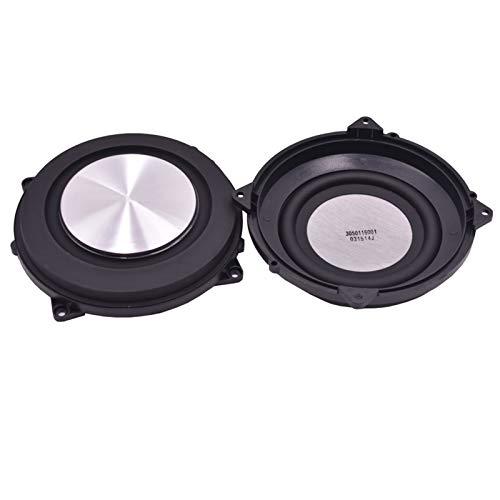 WNJ-TOOL, 2pcs 4 Zoll Bass Radiator gebürstetes Aluminium Zusatzlautsprecher Bass Vibration Membran-Passiv Lautsprecher DIY 120mm
