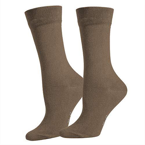 Safersox Classic Mückenschutz-Socke Socken - Mokka, 43-46