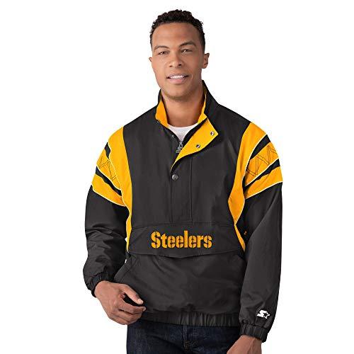 Pittsburgh Steelers Starter IMPACT Half-Zip Pullover Jacket - Black/Yellow (2XL)