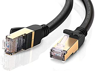 UGREEN LANケーブル カテゴリー7 RJ45 コネクタ ギガビット10Gbps/600MHz CAT7準拠 イーサネットケーブル STP 爪折れ防止 シールド モデム ルータ PS3 PS4 Xbox等に対応 2m