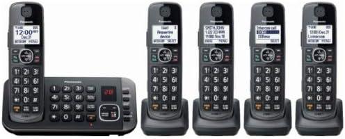 Panasonic KX-TGE645M DECT 6.0 Digital Technology Expandable 5 Handset Cordless Phone with Answering Machine (Renewed)