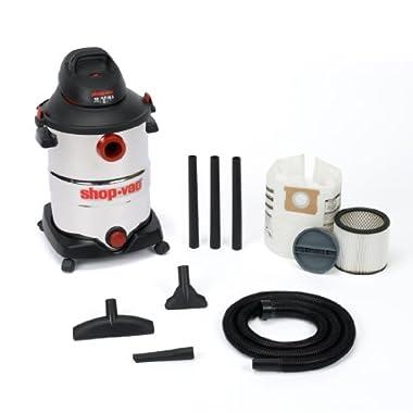 Shop-Vac 5986200 12-Gallon 6.0 Peak HP Stainless Steel Wet Dry Vacuum