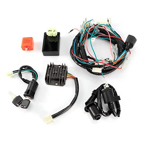 Interruptor de encendido, cableado eléctrico, arnés eléctrico, kit de bobina de llaves,...
