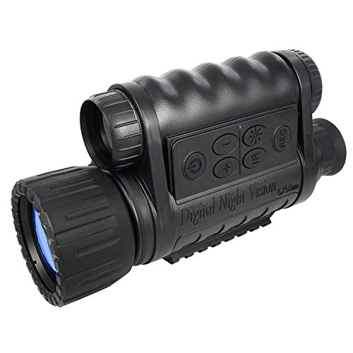 Bestguarder 6x50mm HD Digital Night Vision Monocular with 1.5 inch TFT LCD and Camera & Camcorder Function Takes 5mp Photo & 720p Video from 350m...